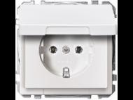 MTN2310-4019 SD Бел Розетка 1-ая с/з с крышкой и защитными шторками (термопласт) безвинт зажим