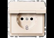 MTN2314-4044 SD Беж Розетка 1-ая с/з с защитными шторками с крышкой,с упл.кольц,IP44,безвинт зажим