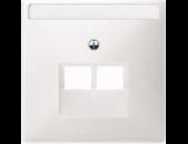 MTN292619 SD Бел Накладка розетки ТЛФ/комп 2-ой наклонной (термопласт)