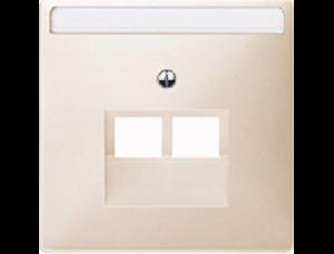 MTN292644 SD Беж Накладка розетки ТЛФ/комп 2-ой наклонной (термопласт)
