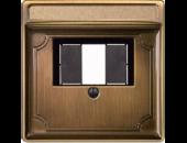 MTN297843 SD Античная латунь Накладка аудиорозетки 2-ой (мех МTN46701х, MTN46691x)