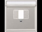MTN297846 SD Сталь Накладка для TAE-розетки, моно-/стерео аудио розетки