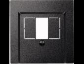 MTN297914 SM Антрацит Накладка аудиорозетки 2-ой (мех М46701х)