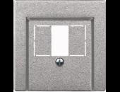 MTN297960 SM Алюминий Накладка аудиорозетки 2-ой (мех М46701х)