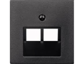 MTN298014 SM Антрацит Накладка розетки ТЛФ/комп 2-ой наклонной