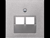 MTN298060 SM Алюминий Накладка розетки ТЛФ/комп 2-ой наклонной