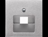 MTN298360 SM Алюминий Накладка розетки ТЛФ/комп 1-ой наклонной