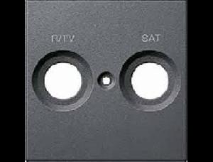 MTN299214 SM Антрацит Накладка розетки R/TV-SAT с маркировкой