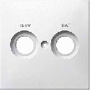 MTN299619 SD Бел Накладка розетки R/TV-SAT с маркировкой