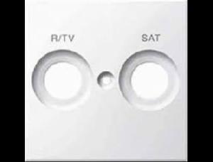 MTN299819 SM Бел глянц Накладка розетки R/TV-SAT с маркировкой
