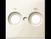 MTN299944 SM Беж глянц Накладка розетки TV-FM с маркировкой