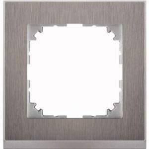 MTN4010-3646 M-Pure Decor 1-постовая рамка, нерж.сталь/цвет алюминия