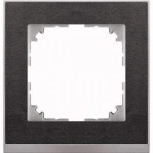 MTN4010-3669 M-Pure Decor 1-постовая рамка, сланец/цвет алюминия
