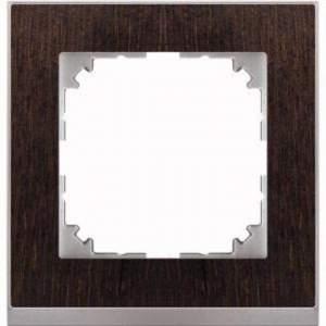 MTN4010-3671 M-Pure Decor 1-постовая рамка, венге/цвет алюминия