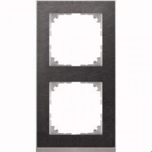 MTN4020-3669 M-Pure Decor 2-постовая рамка, сланец/цвет алюминия