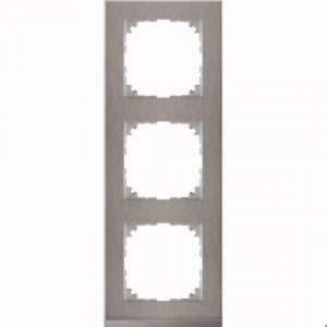 MTN4030-3646 M-Pure Decor 3-постовая рамка, нерж.сталь/цвет алюминия