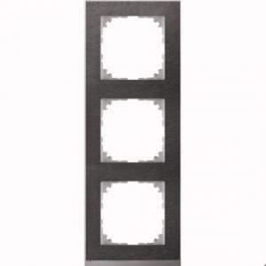 MTN4030-3669 M-Pure Decor 3-постовая рамка, сланец/цвет алюминия