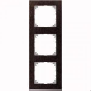 MTN4030-3671 M-Pure Decor 3-постовая рамка, венге/цвет алюминия