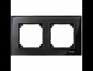 MTN404203 M-Elegance Стекло Черное кальцит Рамка 2-я