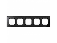 MTN404503 M-Elegance Стекло Черное кальцит Рамка 5-я