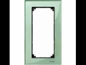 MTN404804 M-Elegance Стекло Зеленое кальцит Рамка 2-я без перегородки