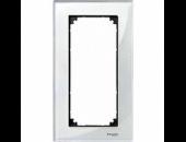 MTN404819 M-Elegance Стекло Белыйое Рамка 2-я без перегородки