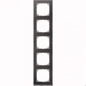 MTN4050-3669 M-Pure Decor 5-постовая рамка, сланец/цвет алюминия