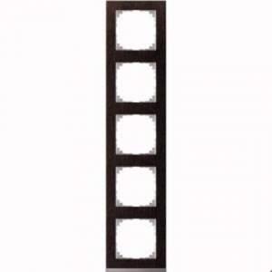 MTN4050-3671 M-Pure Decor 5-постовая рамка, венге/цвет алюминия