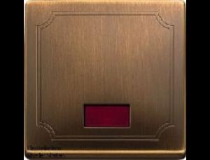 MTN411843 SD Античная латунь Клавиша 1-ая с окошком, без линзы