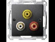 MTN4351-0414 SM Антрацит Аудио/Видео розетка RCA