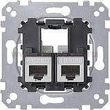 MTN4575-0012 Actassi розетка телекоммун 2xRJ45 Cat5e STP