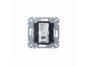 MTN463501 Мех Розетка ТЛФ 1-ая RJ12 4 контакта прямая