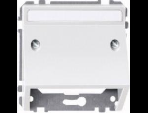 MTN464319 SD Бел Накладка аудиорозетки 1-ая с полем для надписи наклонная