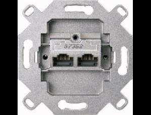MTN465706 Мех Розетка компьютерная 2-ая наклонная 6 кат