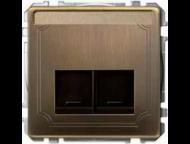 MTN466643 SD Античная латунь Центральная плата д/роз. 2P
