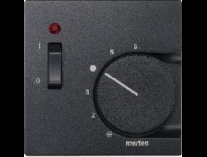 MTN536114 SM Антрацит Накладка термостата комнатного (Мех.536302,536304)