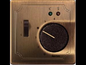 MTN537543 SD Античная латунь Накладка регулятора тёплого пола с выключателем
