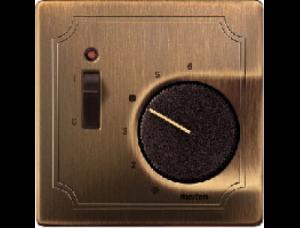 MTN539743 SD Античная латунь Накладка термостата комнатного (Мех.536302,536304) с выключателем
