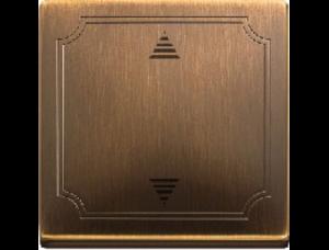 MTN584243 SD Античная латунь Накладка электронного кнопочного выключателя жалюзи