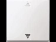 MTN587719 SM Бел глянц Накладка электронного кнопочного выключателя жалюзи