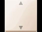 MTN587744 SM Беж глянц Накладка электронного кнопочного выключателя жалюзи