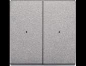 MTN625260 SM Алюминий Накладка светорегулятора 2-х канального нажимного (исп с мех 568499+568099)