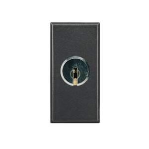 N2153.1 AN NIE Zenit Антрацит Переключатель с ключом на 3 положения 1 мод