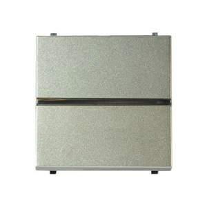 N2204.5 CV NIE Zenit Шампань Выключатель 1-клавишный кнопочный с индикацией НО-контакт 2 мод