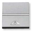 N2204 PL NIE Zenit Серебро Выключатель 1-клавишный кнопочный НО-контакт с символом Звонок 2 мод