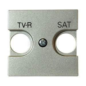 N2250.1 CV NIE Zenit Шампань Накладка для TV-R/SAT розетки, 2 мод