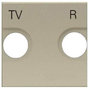 N2250.8 CV NIE Zenit Шампань Накладка для TV-R розетки, 2 мод