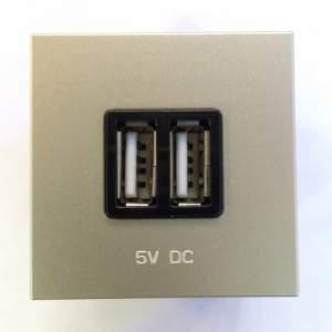 N2285 CV NIE Zenit Шампань Механизм USB зарядного устройства, 2М, 2х750 мА / 1х1500мА