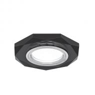 Светильник Gauss Mirror RR014 Восемь гран. Кристал черный/Хром, Gu5.3 1/50
