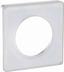 S52P802R Рамка 1 пост прозрачный белый ODACE